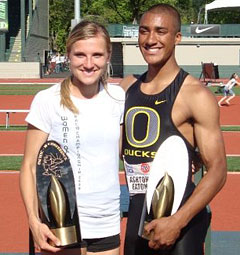 uo alumni ashton eaton and brianne theisen an olympic duck love story